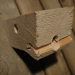 The biggest design challenge was coming up with a strong three-way tent pole joint. This wooden version cracked...