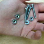 "(4) #6 x 3/4"" machine screws and nuts"