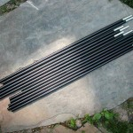 "(12) 18"" x .340"" aluminum tent poles with inserts"