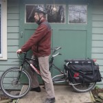 Cargo bike. My electric cargo bike has a huge 20 lb. motor and 72 volt batteries that can produce almost 3 kilowatts of power, about 30 times the power output of a human rider. Quick car comparison: this bike has only about a hundredth the power of a gasoline-powered vehicle, but with arguably similar functionality.